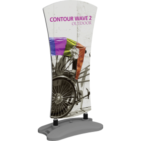 Contour Outdoor Sign Wave 2 - Water Base